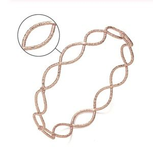 Rose Gold Metal Infinity Weave Bangle Bracelet